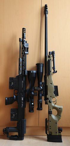 That looks like an Accuracy International rifle Airsoft Guns, Weapons Guns, Guns And Ammo, Survival, Custom Guns, Military Weapons, Military Army, Cool Guns, Assault Rifle