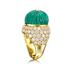 FD Gallery | An Emerald Bead and Diamond Ring, by Van Cleef & Arpels, circa 1960