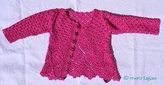 mero lugaa: Gehäkelte Mädchenjacke - Crochet girl's cardigan