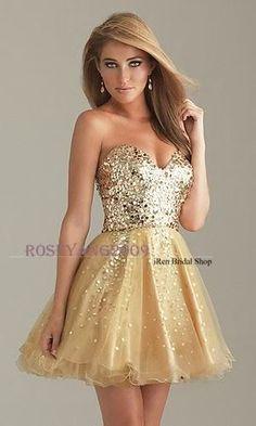 Gold Pailletten Schatz lange Partei Cocktailkleider Abend Brautkleider | eBay