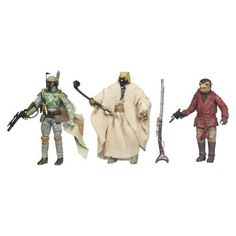 Star Wars Vintage Villain 3 Piece Action Figure set including Boba Fett, Sand People, and Snaggletooth #starwars