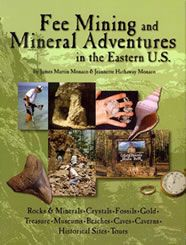 Fee Mining and Mineral Adventures in the Eastern U. by James Martin Monaco and Jeannette Hathaway Monaco Minerals And Gemstones, Crystals Minerals, Rocks And Minerals, Stones And Crystals, Gem Guide, Gem Hunt, Fossil Hunting, Gemstone Brooch, Rock Hunting