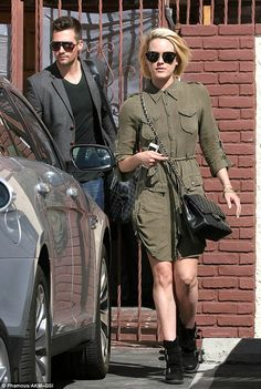 James Maslow and Peta Murgatroyd arrive for dance rehearsals on the show