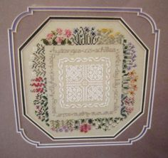The Perennial Border Flowers The Drawn Thread Counted Cross Stitch Pattern Chart #TheDrawnThread #Sampler