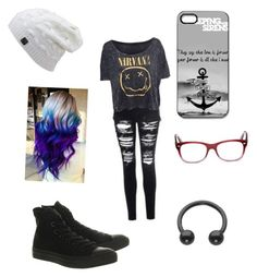 """Untitled #303"" by sleeping-horizon-empires ❤ liked on Polyvore featuring Converse and Ray-Ban"