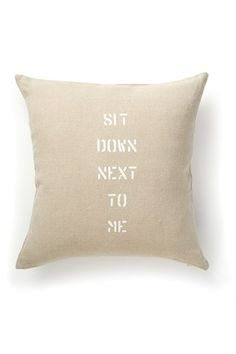 Ian Cushion - Cushions & Throws - French Connection #onekingslane #designisneverdone