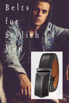 Men's Belt Ratchet Dress Belt with Automatic Buckle Brown/Black-Trim to Fit-35mm wide . . . . . . . #belt #leatherbelt #menfashion #menaccessories #giftsformen #belts #beltsformen #beltforman #giftforhim #giftforaman #genuineleather #genuineleatherbelt #realleather #modernbelts