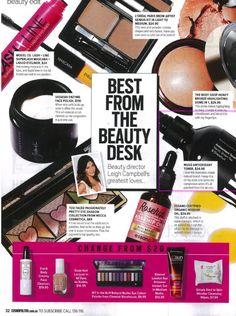 Whats on Cosmopolitan girl Leigh Campbell's beauty desk?  Musq Antioxidant Toner of course!