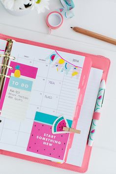 Watch our new video for gorgeous ideas for decorating and organising your kikki.K Watermelon Planner