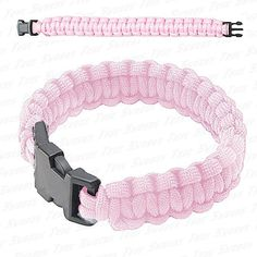 Paracord Bracelets are a handy way to carry paracord with you wherever you may go. Army Surplus World has a great selection of paracord bracelets. Knot Braid, Parachute Cord, Paracord Projects, 550 Paracord, Art N Craft, Wire Crafts, Paracord Bracelets, Powder Pink, Rainbow Loom