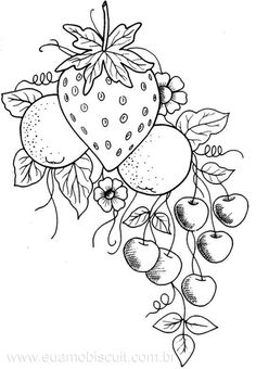 fruit coloring pages for adults | fruit bowl drawing for kids | coloring | Pinterest ...