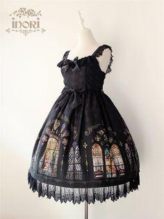 Inori -Stained Glass- Printed Lolita JSK Dress $97.99 - My Lolita Dress