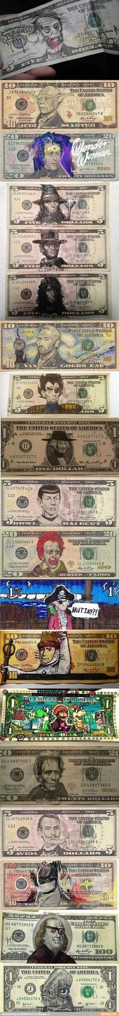 "Funny Money - these are funny, but I was like ""how they gonna mess with our man, A. Hamm?"" But he's Van Gogh, Max from WTWTA, and Batman. Yeah, I'm cool with that."