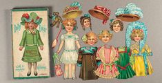 """View Catalog Item - Theriault's Antique Doll Auctions Lot: 115. English Boxed Paper Dolls """"Dolly Dear"""" by Spears"""