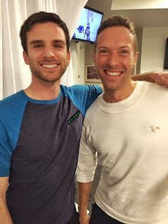 Guy Berryman and Chris Martin from Coldplay