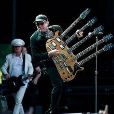Robin Zander and Rick Nielsen of Cheap Trick. It was amazing seeing them live with Aerosmith. And that guitar..... I mean come on that's awesome