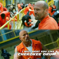 Jason Statham & Dwyane Johnson as Decker Shaw & Luke Hobbs