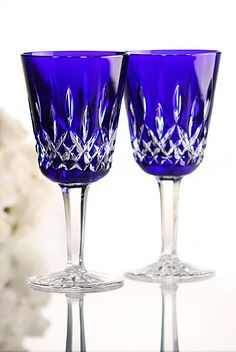 Waterford lismore Cobalt wine | ... Waterford Crystal Lismore pattern has been Waterford's pre-eminent