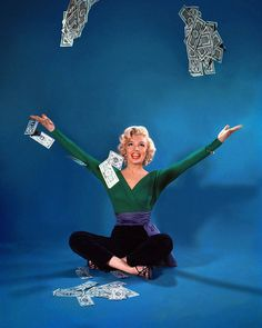 Marilyn Monroe in a publicity still for Gentlemen Prefer Blondes by John Florea (1953)