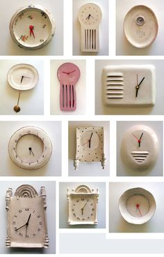 clocks Ceramic Clocks by Maria Kristofersson.