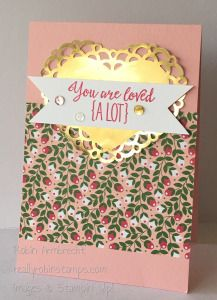 Stampin' Up! Occasions Catalog 2016, Grateful Bunch stamp set, Love Blossoms Designer Series Paper, Love Blossoms Embellishment kit