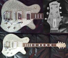 Guitar Blog: Aria Sparkly guitar. It's Christmas!