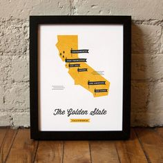California State Map / These Are Things