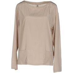 Le Coeur De Twin-set Simona Barbieri Blouse (€130) ❤ liked on Polyvore featuring tops, blouses, beige, long sleeve tops, beige top, long sleeve blouse, beige blouse and twin set tops