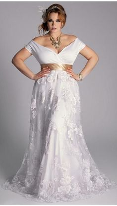Vestido de novia para tallas extra.