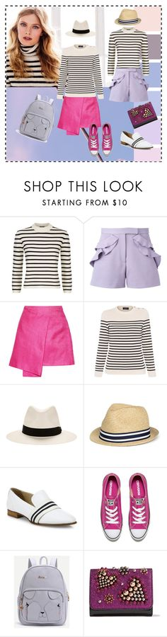 """Stripes 001"" by yaschy ❤ liked on Polyvore featuring Theory, Elie Saab, Maiyet, Saint James, rag & bone, Converse and Christian Louboutin"