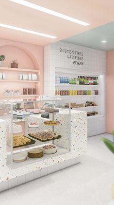 Bakery Decor, Bakery Interior, Coffee Shop Interior Design, Coffee Shop Design, Restaurant Interior Design, Cake Shop Interior, Cake Shop Design, Bakery Design, Cafe Design