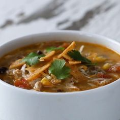 Chicken Tortilla Soup Recipe by Tasty Cooking Tv, Healthy Cooking, Cooking Recipes, Healthy Recipes, Cooking Steak, Healthy Soup, Healthy Eats, Mexican Food Recipes, Soup Recipes