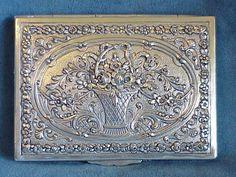 antique calling card case