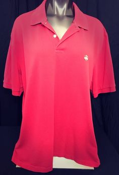 Brooks Brothers 346 Men's Polo Shirt Red Original Fit Gold Sheep Logo XL #BrooksBrothers #PoloRugby