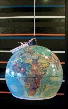 Globe Pendant Lighthttp://www.addicted2decorating.com/diy-project-lighting-vintage-world-globe-pendant-light.html