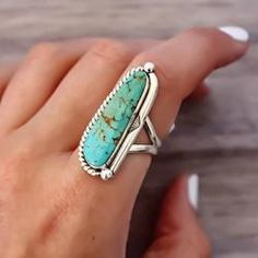 Navajo Half Twist Turquoise Ring - Indie and Harper. - Navajo Half Twist Turquoise Ring – Indie and Harper. Bohemian Gypsy Festival Jew… – Rings an - Jewelry Tags, Beaded Jewelry, Silver Jewelry, Silver Ring, Silver Earrings, Jewlery, Jewellery Rings, Jewelry Ideas, Fine Jewelry