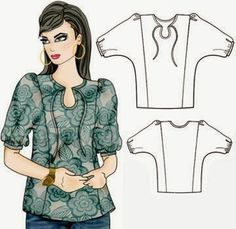 Patrón gratis blusa  (tallas 34-54)