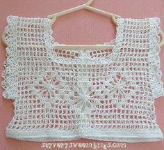 child dress top | crocheted by me using #10 crochet thread a… | Flickr
