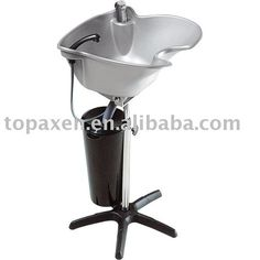 GREY PORTABLE Height Adjustable Shampoo Basin Hair Treatment Bowl Salon Tool