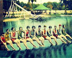 vintage swimmer print