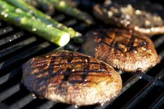 Grilled portobellos.  Really good marinade.  I made these for dinner tonight!  --BB