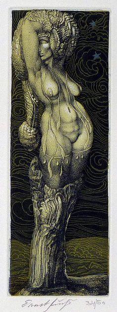 """Ernst Fuchs - """"Daphne"""""""