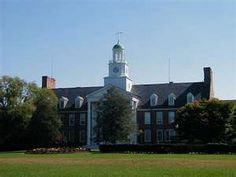 Holloway Hall started life as Salisbury State Teachers College, is now Salisbury University, with a few other names in between.  I remember when they celebrated May Day with Maypole dances on the lawn. Salisbury, Maryland