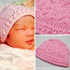 Crochet Baby Mittens Free crochet pattern: Phoebe Baby Crochet Beanie - This is a free crochet pattern for Phoebe Baby Beanie. Crochet Preemie Hats, Crochet Baby Mittens, Crochet Baby Beanie, Baby Blanket Crochet, Free Crochet, Crocheted Hats, Kids Crochet, Hand Crochet, Crochet Wave Pattern