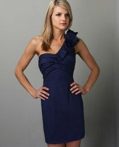 This is a very tempting find complete it with a bright red bouquet whamo :) #justasuggestion #navy #dress #bridesmaid