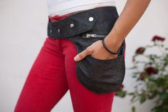 fanny pack grey jeans. €29,90, via Etsy.  who says fanny packs can't look cool
