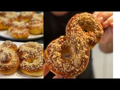 Mucenici MOLDOVENESTI pufosi 💪 (cu miere si cu nuca) - YouTube Pastry And Bakery, Bagel, Cake Recipes, Deserts, Sweets, Bread, Baking, Food Cakes, Videos