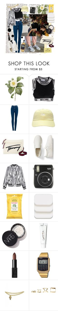 """""""It's Covered"""" by batbekka12 ❤ liked on Polyvore featuring Japonica, Moschino, Pull&Bear, Tommy Hilfiger, Gap, Sans Souci, Fuji, Burt's Bees, COVERGIRL and Korres"""