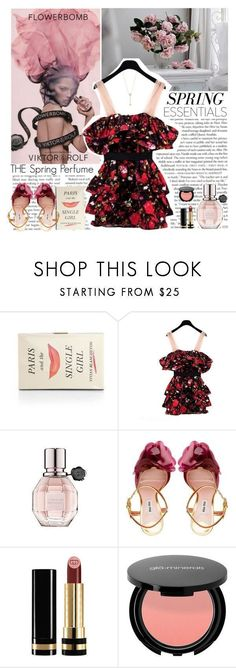 """""""Flowerbomb - Spring Perfume"""" by helena99 ❤ liked on Polyvore featuring beauty, Viktor & Rolf, Kate Spade, Miu Miu, Gucci, EF Collection, floral, miumiu, viktorandrolf and springperfume #miumiuperfume"""