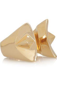 Dominic Jones|Female 23-karat gold-plated ring|NET-A-PORTER.COM